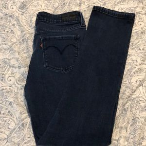 Levi's Dark Wash Slight Curve Slim Leg Jeans 6/28